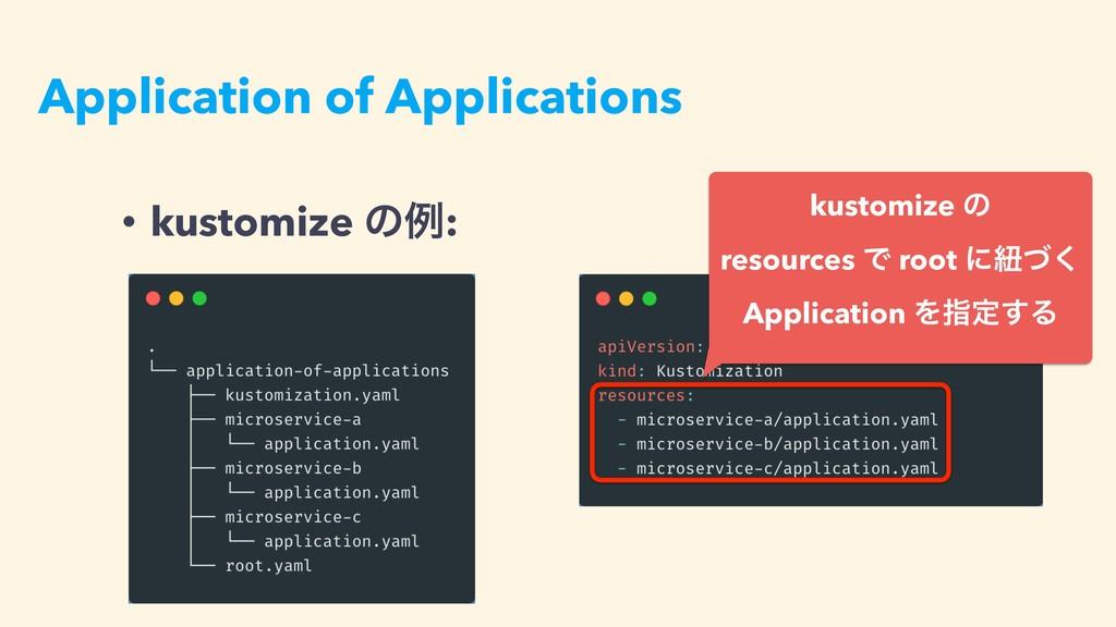 Application of Applications • kustomize ͷྫ: kus...