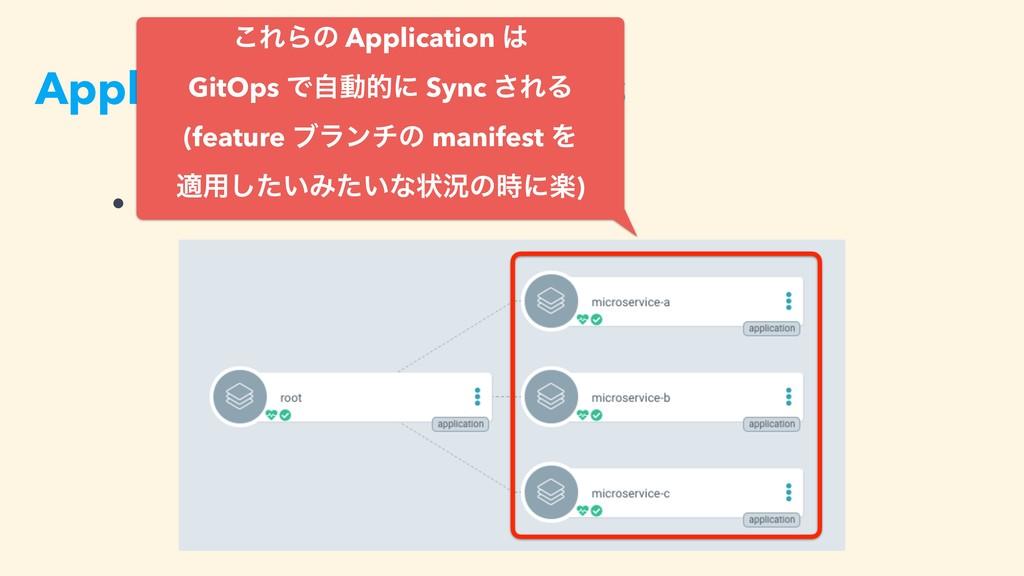 Application of Applications • kustomize ͷྫ: ͜ΕΒ...
