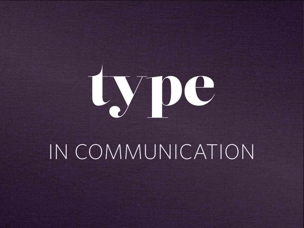 IN COMMUNICATION type