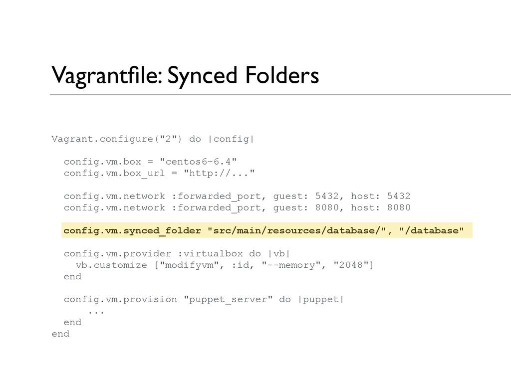 """Vagrantfile: Synced Folders Vagrant.configure(""""2..."""