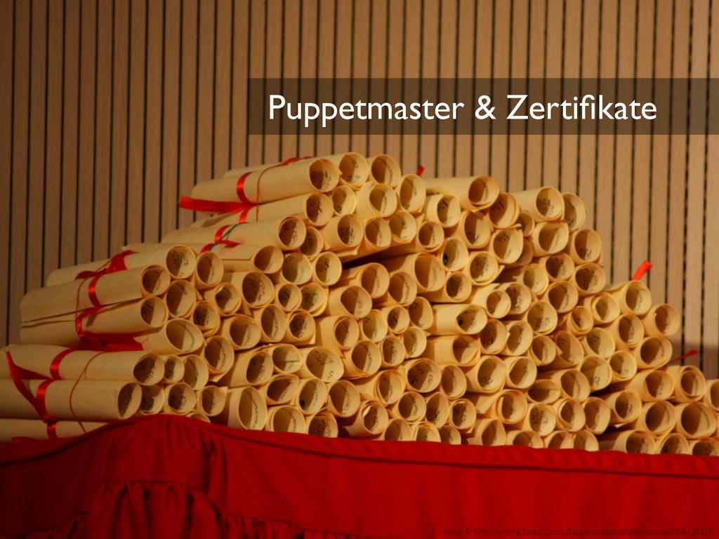 Puppetmaster & Zertifikate Image © Dennis Wong, ...