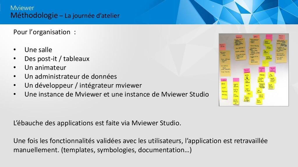 Méthodologie – La journée d'atelier Mviewer Pou...