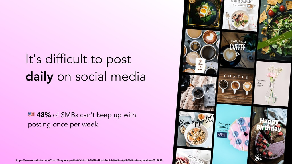 It's difficult to post daily on social media ! ...