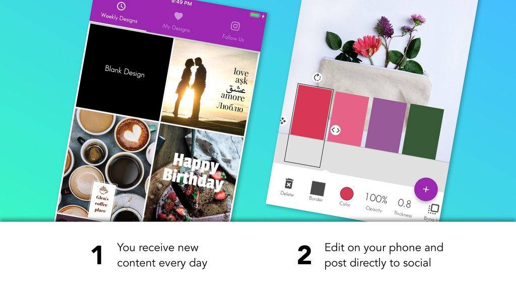You receive new content every day Edit on your ...
