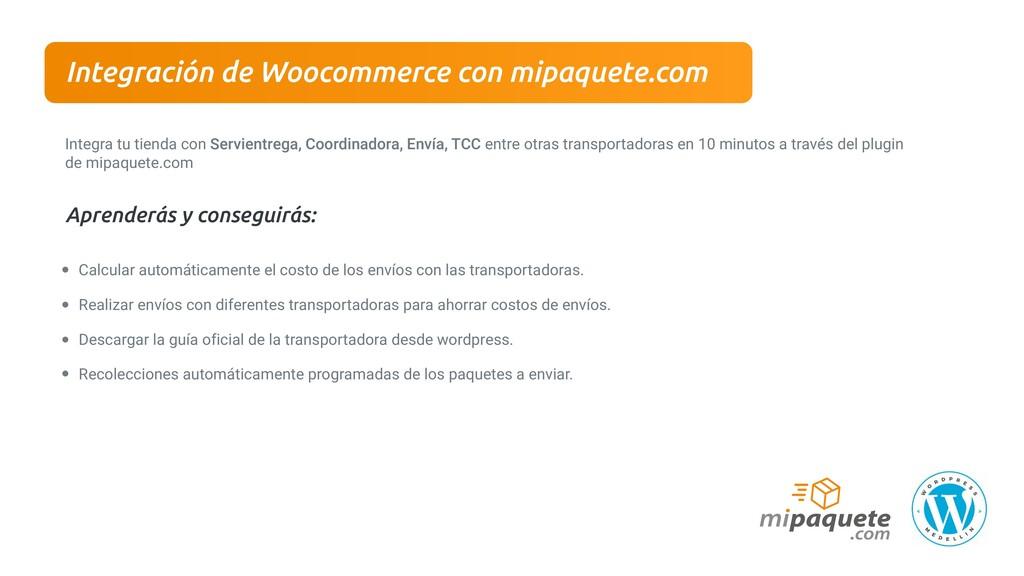 Integración de Woocommerce con mipaquete.com In...