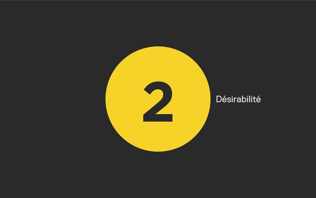 2 Désirabilité