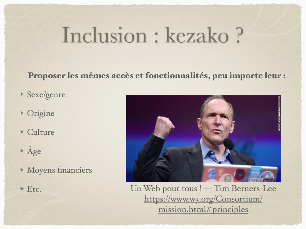 Inclusion : kezako ? Proposer les mêmes accès e...