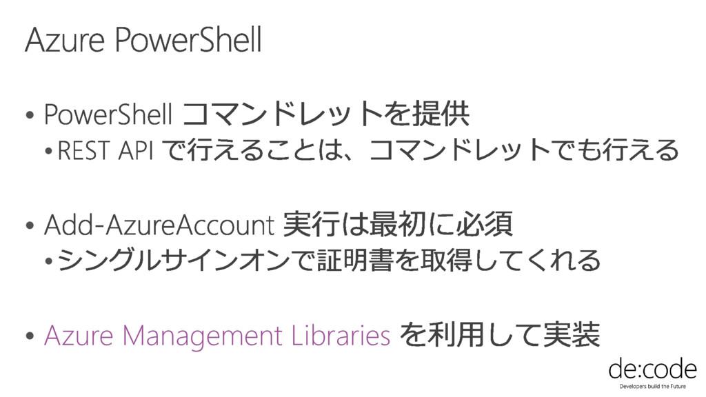      Azure Management Libraries
