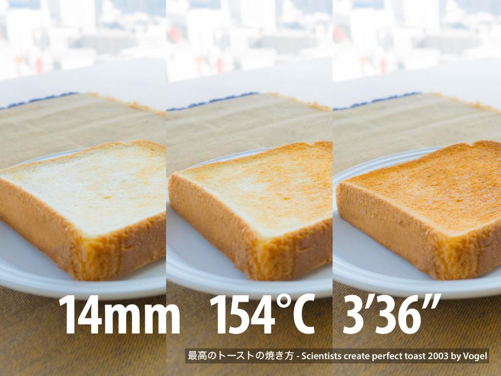 "14mm 154°C 3'36"" ࠷ߴͷτʔετͷম͖ํ - Scientists creat..."
