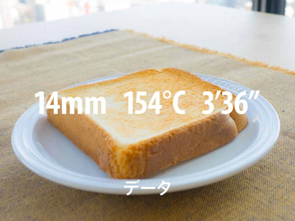 """14mm 154°C 3'36"""" σʔλ"""