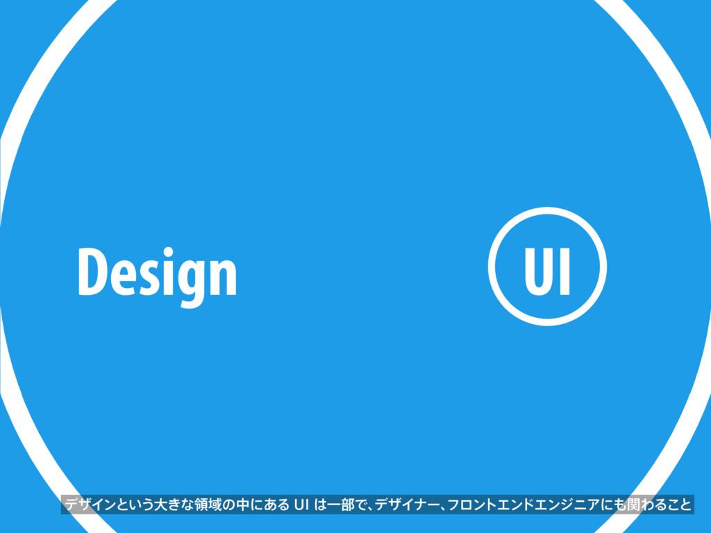 Design UI σβΠϯͱ͍͏େ͖ͳྖҬͷதʹ͋Δ6*Ұ෦Ͱɺ σβΠφʔɺ ϑϩϯ...