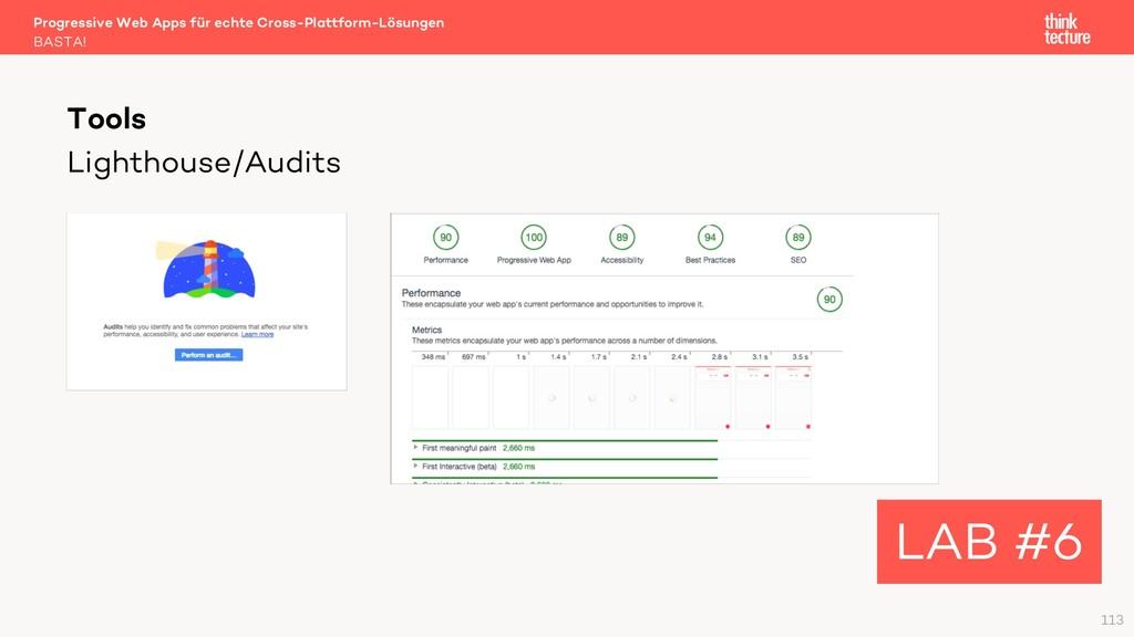 Lighthouse/Audits Progressive Web Apps für echt...