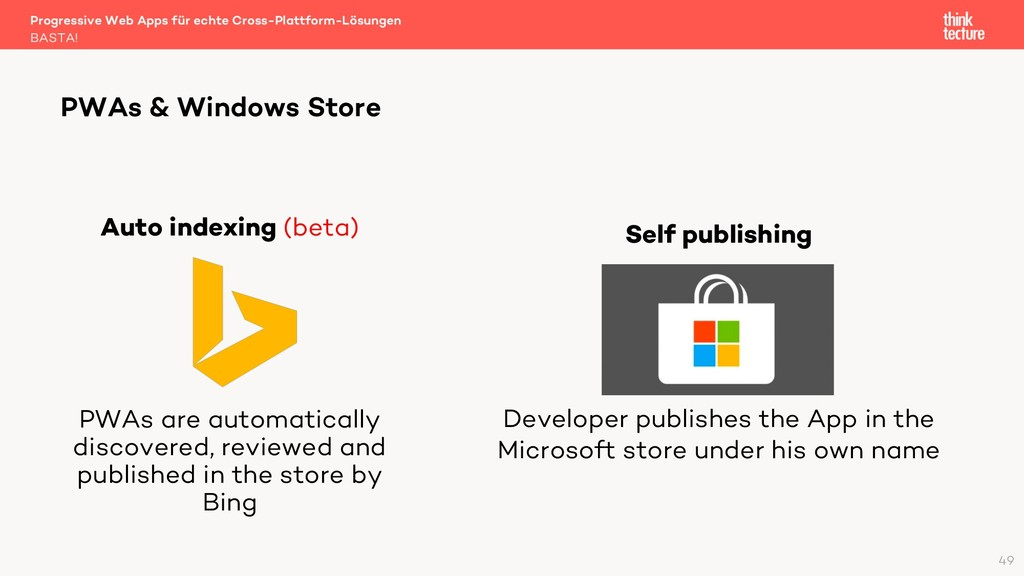 Self publishing Developer publishes the App in ...