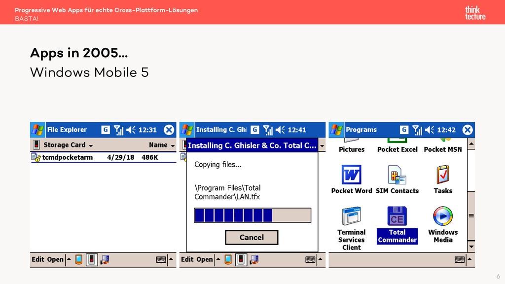 Windows Mobile 5 Apps in 2005… BASTA! Progressi...