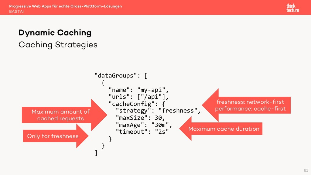 "Caching Strategies ""dataGroups"": [ { ""name"": ""m..."