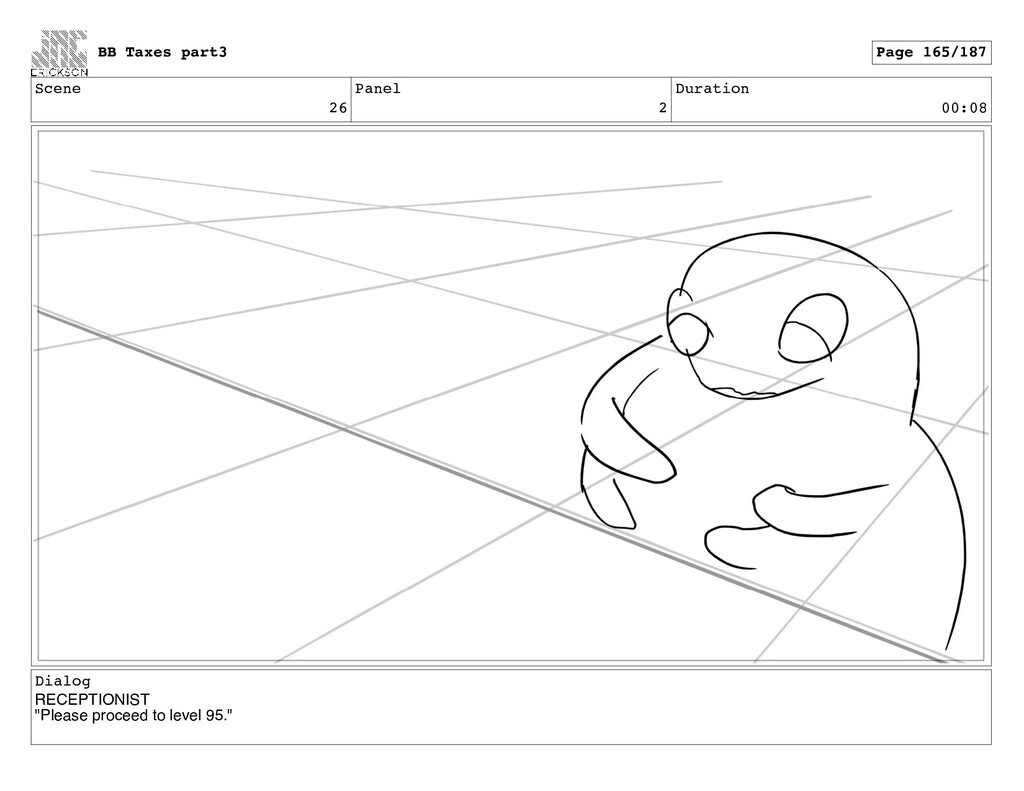 Scene 26 Panel 2 Duration 00:08 Dialog RECEPTIO...
