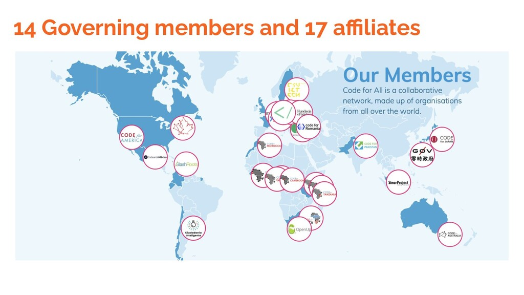 14 Governing members and 17 affiliates