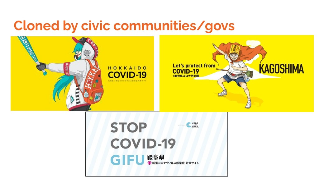 Cloned by civic communities/govs