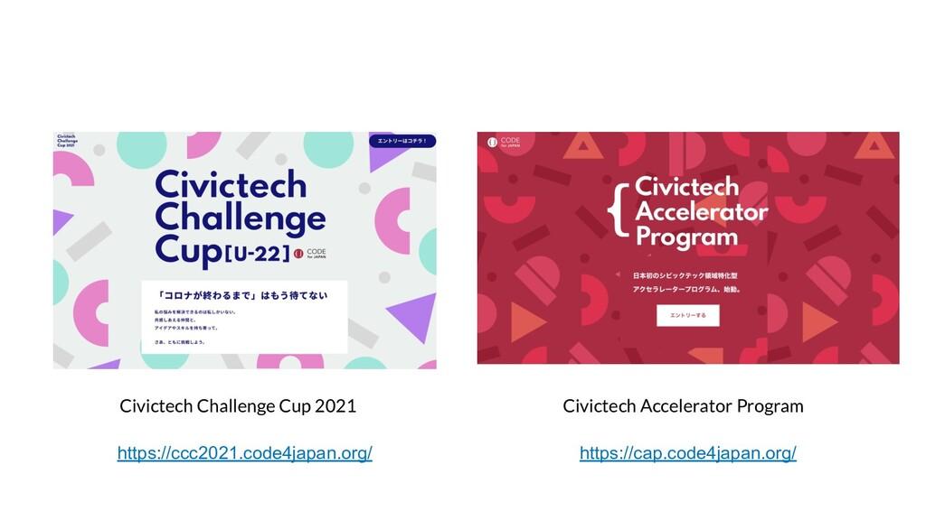 Civictech Challenge Cup 2021 Civictech Accelera...
