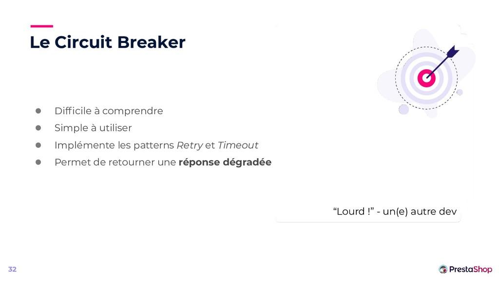 Le Circuit Breaker ● Difficile à comprendre ● Si...
