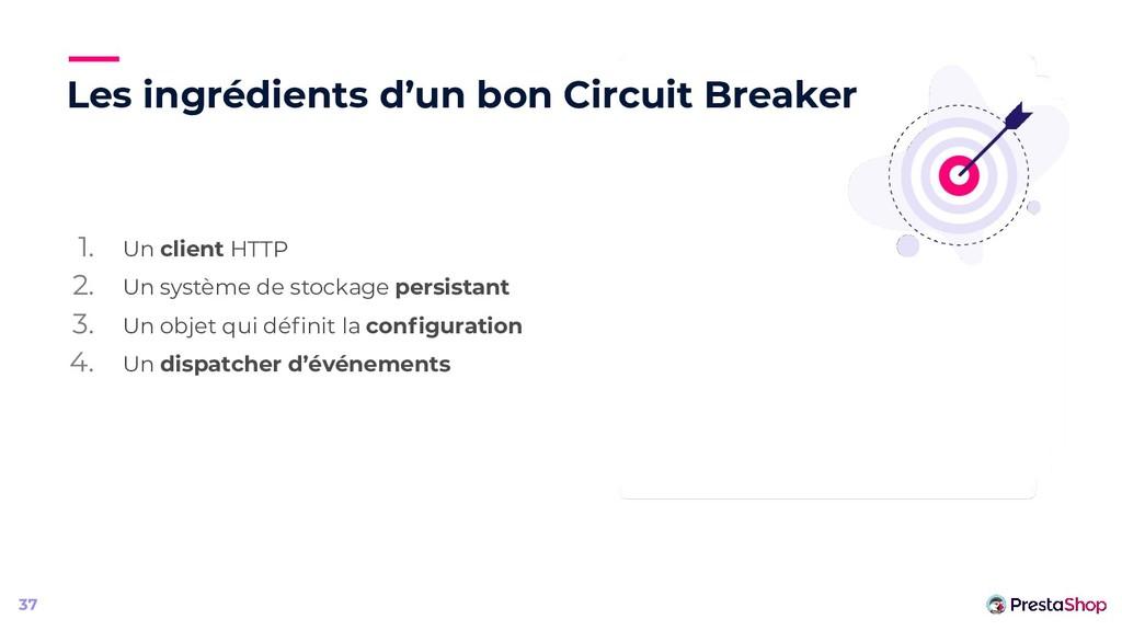 Les ingrédients d'un bon Circuit Breaker 1. Un ...