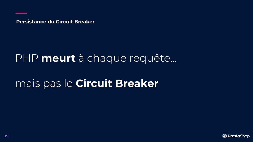meurt Circuit Breaker 39 Persistance du Circuit...