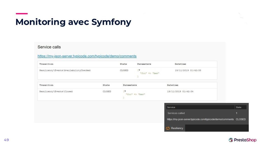 Monitoring avec Symfony 49