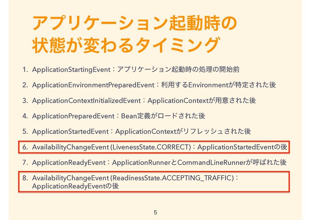 ΞϓϦέʔγϣϯىಈͷ ঢ়ଶ͕มΘΔλΠϛϯά 1. ApplicationStarting...