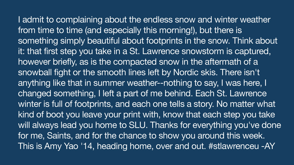 I admit to complaining about the endless snow a...