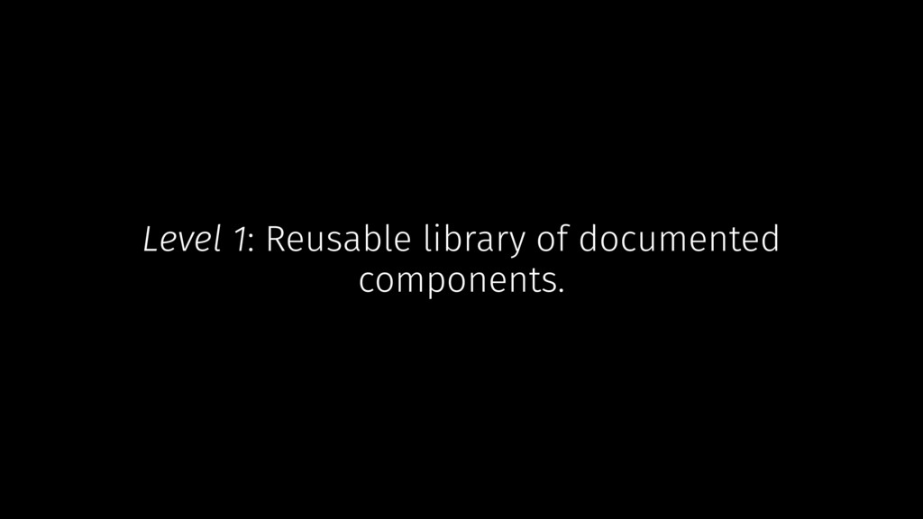Level 1: Reusable library of documented compone...