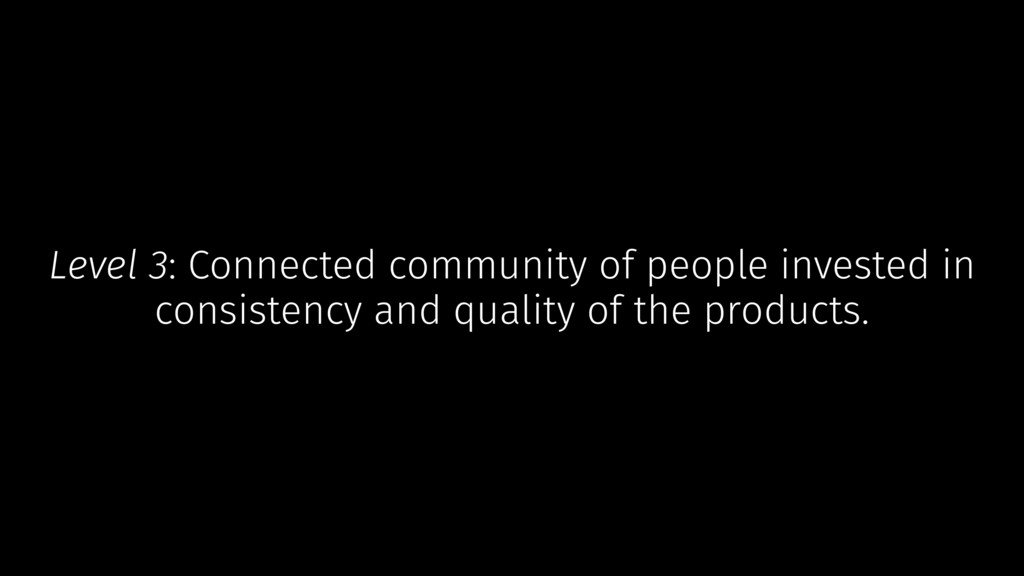 Level 3: Connected community of people invested...
