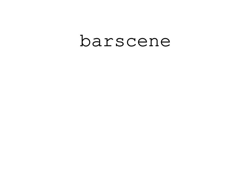 barscene