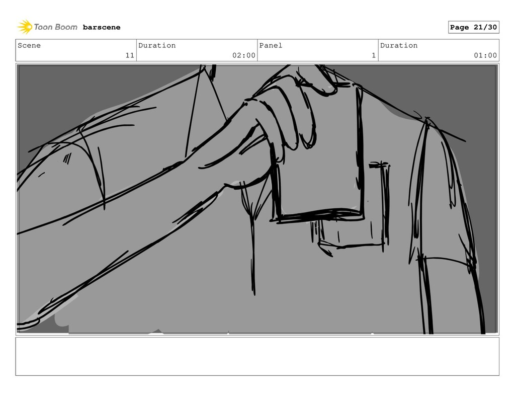 Scene 11 Duration 02:00 Panel 1 Duration 01:00 ...