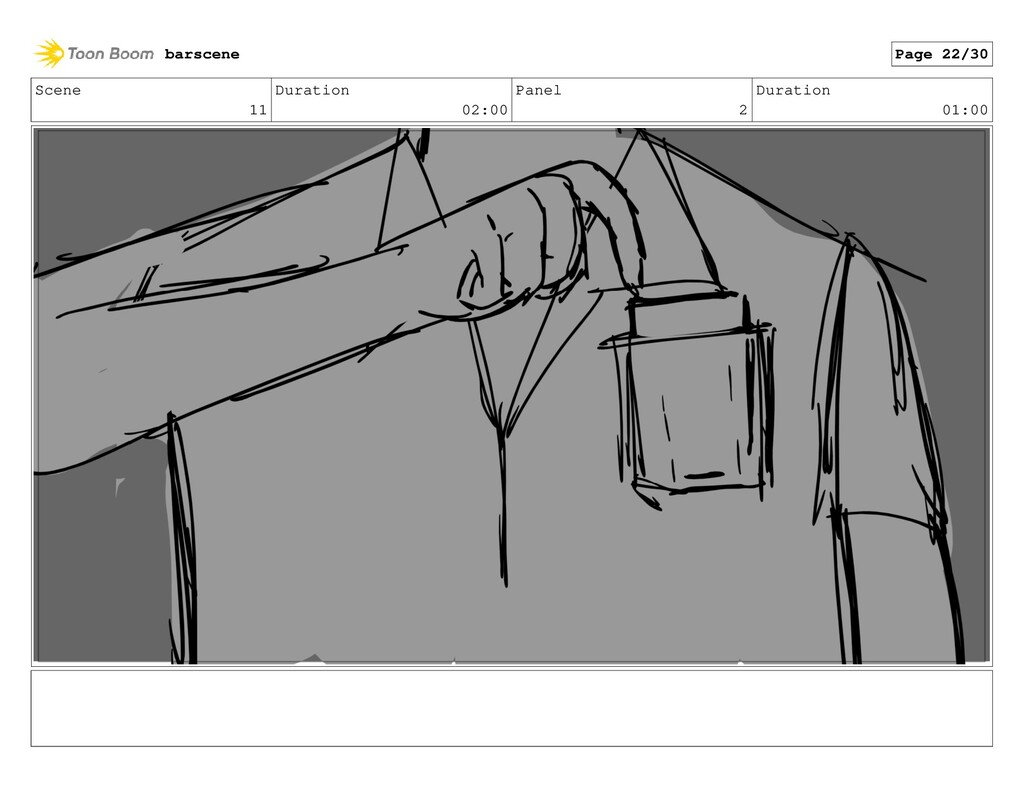 Scene 11 Duration 02:00 Panel 2 Duration 01:00 ...