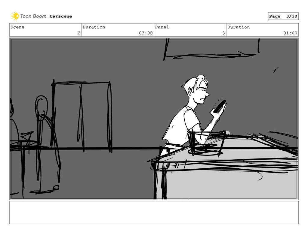 Scene 2 Duration 03:00 Panel 3 Duration 01:00 b...