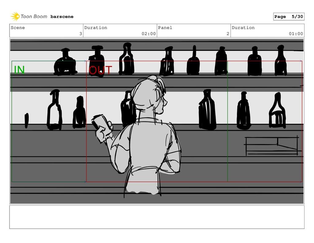 Scene 3 Duration 02:00 Panel 2 Duration 01:00 b...