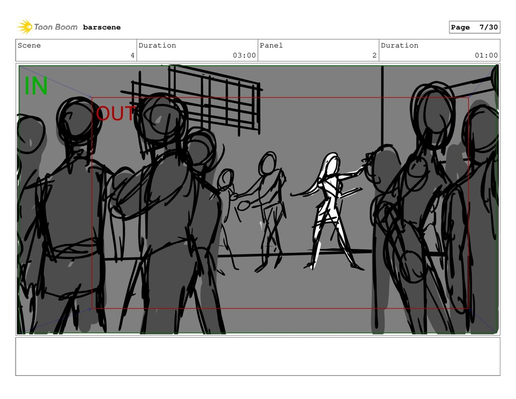 Scene 4 Duration 03:00 Panel 2 Duration 01:00 b...