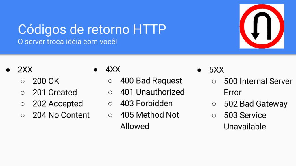 Códigos de retorno HTTP O server troca idéia co...