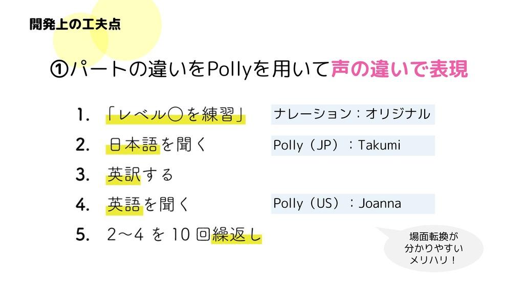 ナレーション:オリジナル Polly(JP):Takumi Polly(US):Joanna ...