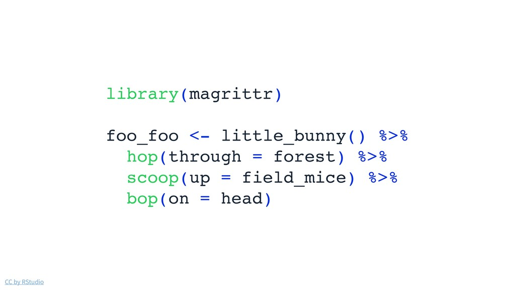 CC by RStudio library(magrittr) foo_foo <- litt...