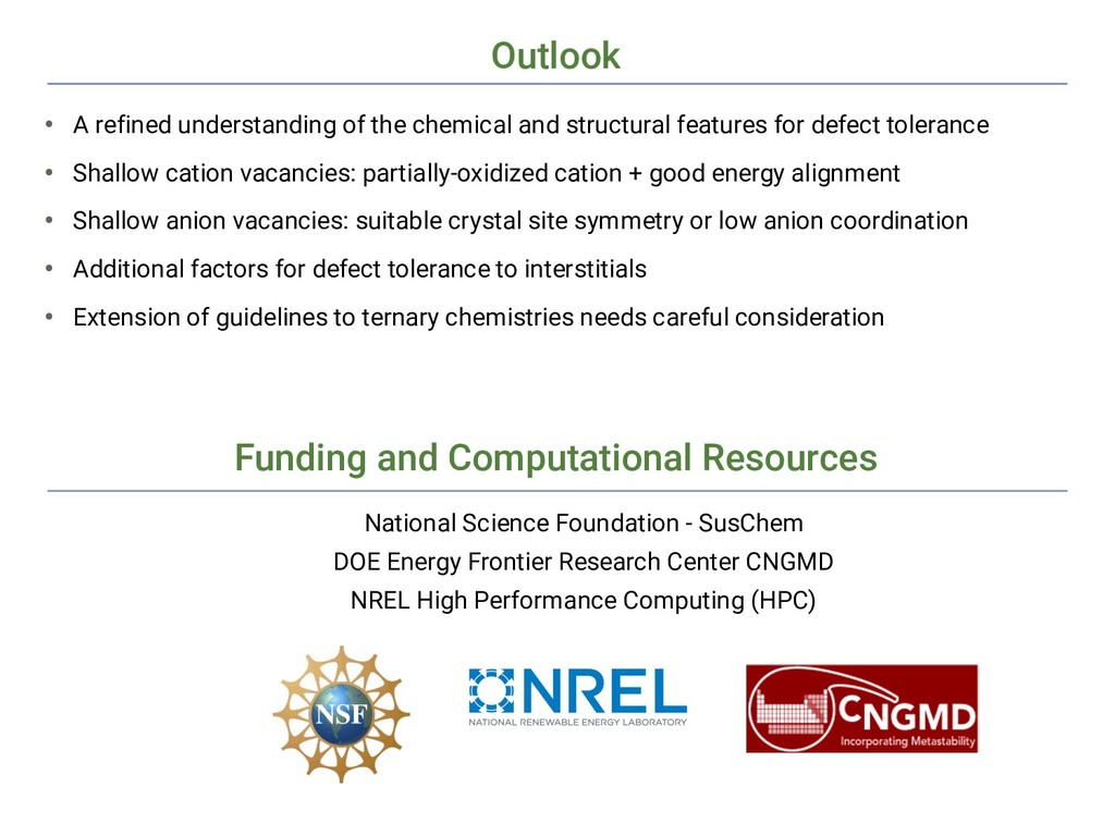 Outlook Funding and Computational Resources Nat...
