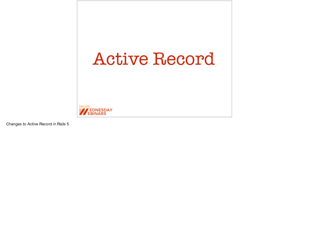 Active Record Changes to Active Record in Rails...