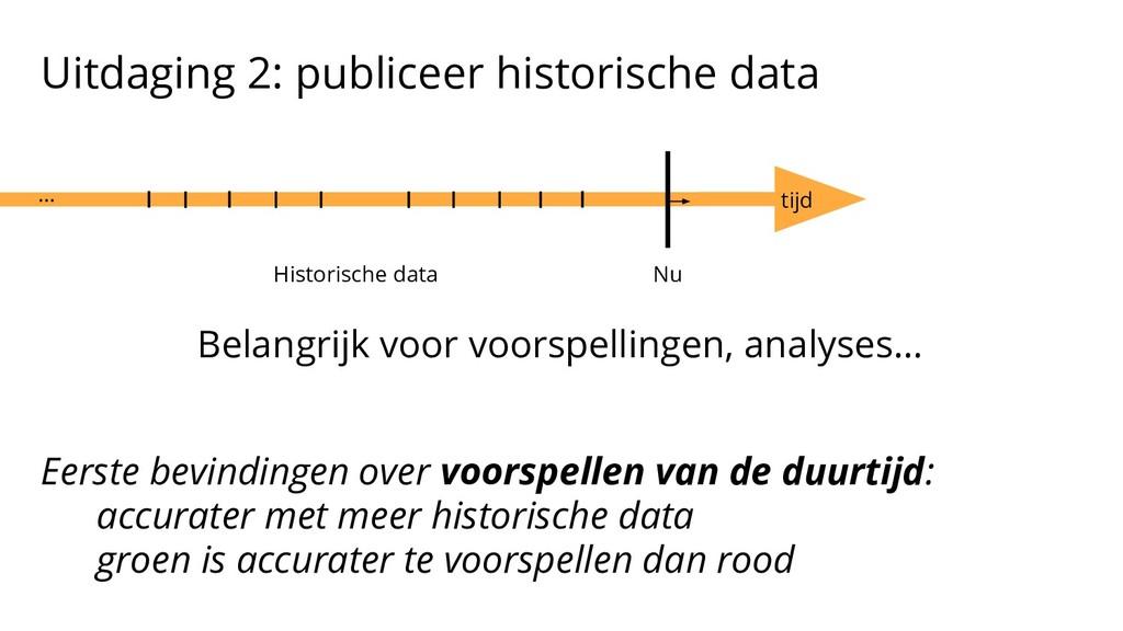 Uitdaging 2: publiceer historische data Belangr...