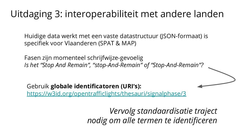 Uitdaging 3: interoperabiliteit met andere land...