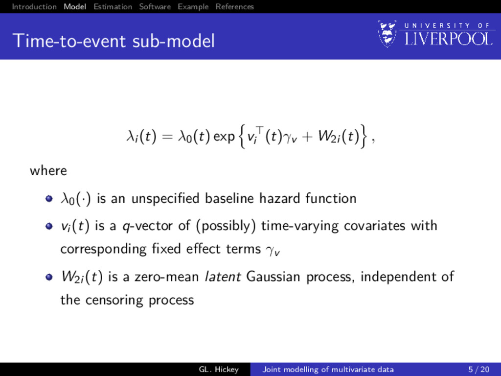 Introduction Model Estimation Software Example ...