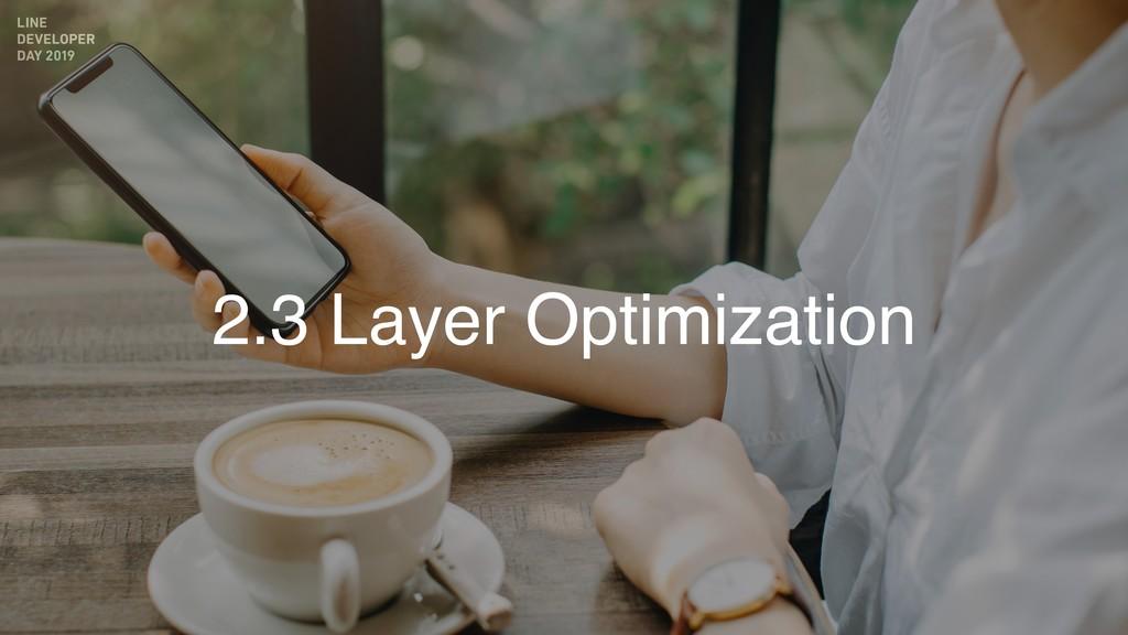 2.3 Layer Optimization
