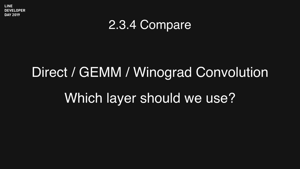Direct / GEMM / Winograd Convolution Which laye...