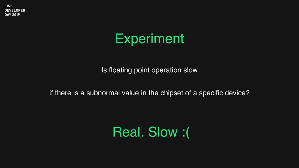 Experiment Is floating point operation slow if t...