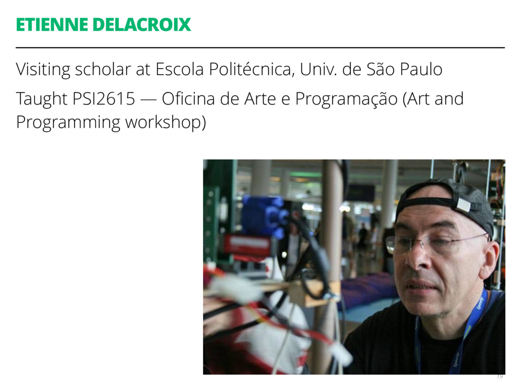 ETIENNE DELACROIX Visiting scholar at Escola Po...