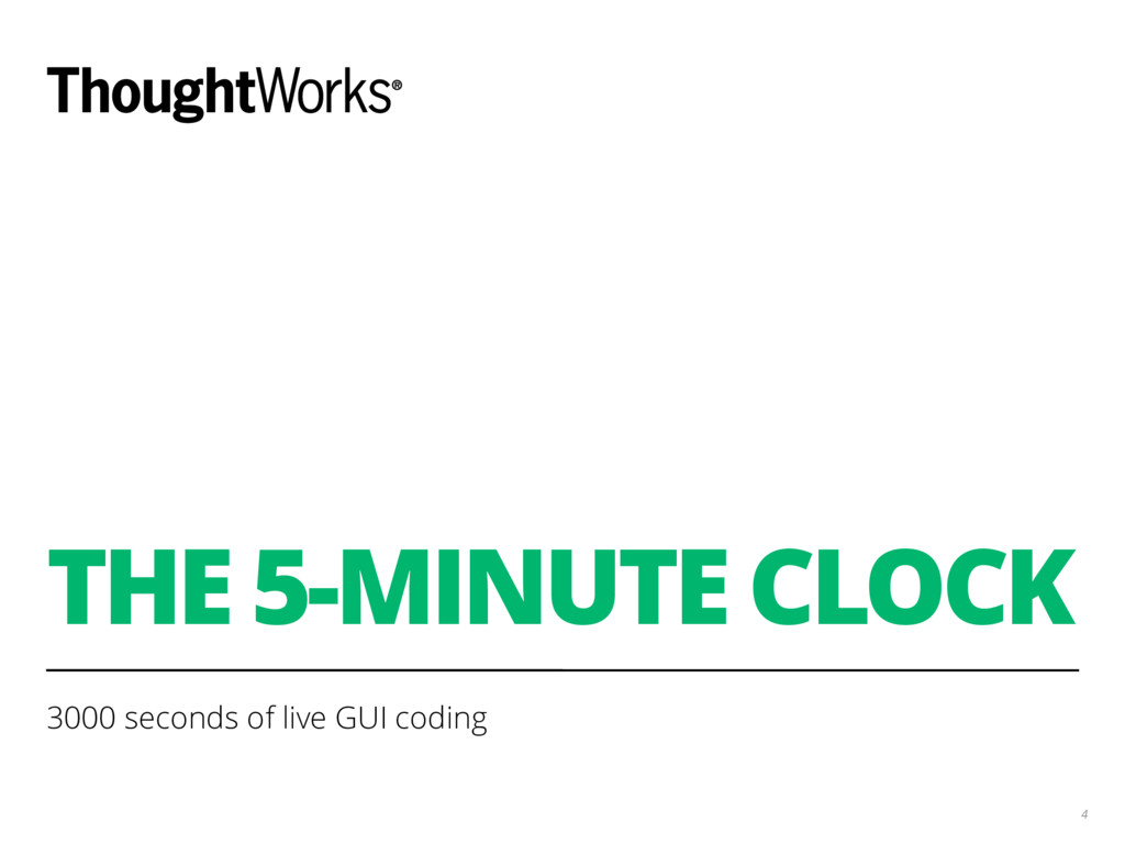 THE 5-MINUTE CLOCK 3000 seconds of live GUI cod...
